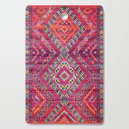 N118 - Pink Colored Oriental Traditional Bohemian Moroccan Artwork. Cutting Board