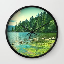down by the water Wall Clock