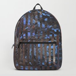 Abstract blue and brown Backpack