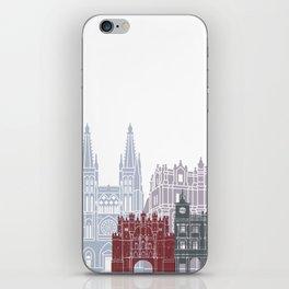 Burgos skyline poster iPhone Skin
