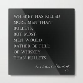Whiskey & Bullets Metal Print