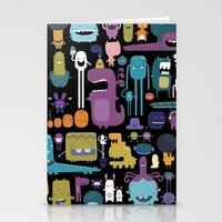 monsters Stationery Cards featuring MONSTERS by Piktorama