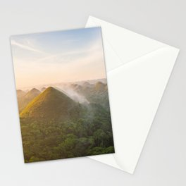 Panoramic landscape of the Chocolate Hills in Bohol   The Philippines travel photography Stationery Cards
