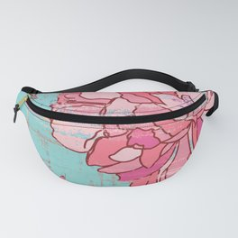 Pink roses, floral print in pastels Fanny Pack