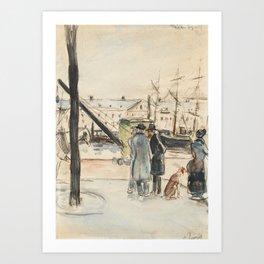 Camille Pissarro 1830-1903 THE DOCKS IN ROUEN Art Print