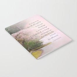Serenity Prayer Cherry Tree One Notebook