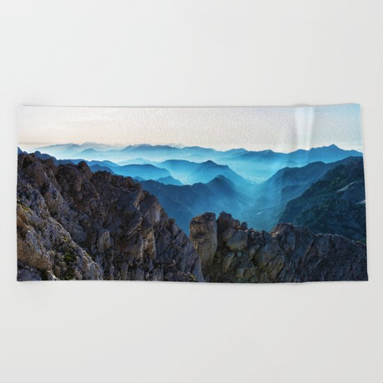 Mountains Breathe Too Beach Towel