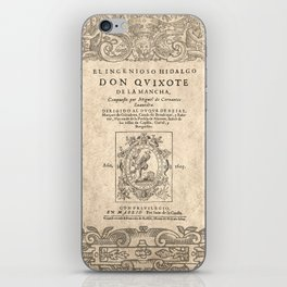 Cervantes. Don Quijote, 1605. iPhone Skin