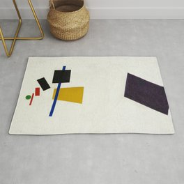Painterly Realism of a Football Player, Color Masses in the 4th Dimension, by Kazimir Malevich Rug