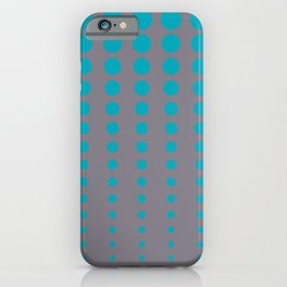 Aqua Blue and Gray Reduced Polka Dot Pattern 2021 Color of the Year AI Aqua and Good Gray iPhone Case