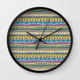 Stripey-Jardin Colors Wall Clock