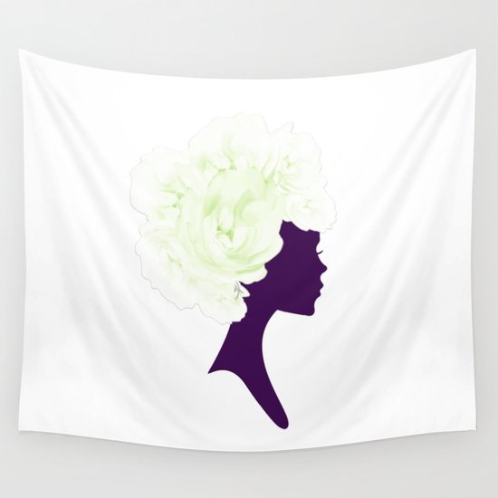 Rose Silhouette Wall Tapestry