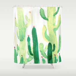 green cactus Shower Curtain