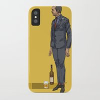 crowley iPhone & iPod Cases featuring crowley by publicserviceannouncement