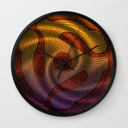 Let The Music Play Wall Clock
