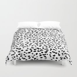 Dalmat-b&w-Animal print I Duvet Cover