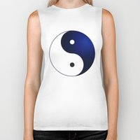 ying yang Biker Tanks featuring Ying Yang by Timeless-Id