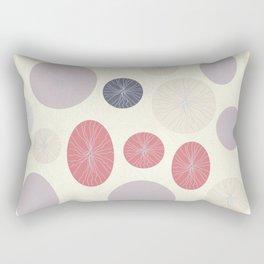 Circles, Ovals and Lines Light Rectangular Pillow