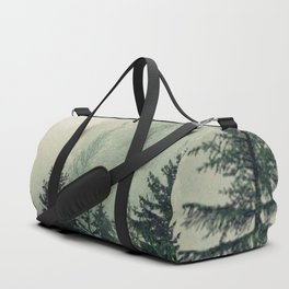 Foggy Pine Trees Duffle Bag