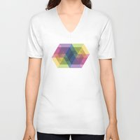 fig V-neck T-shirts featuring Fig. 030 by Maps of Imaginary Places