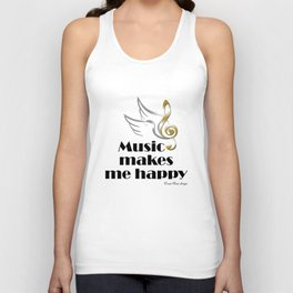 Music makes me happy Unisex Tank Top