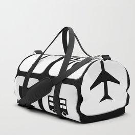 Tourist travel icon set Duffle Bag