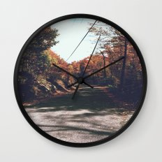 Kenisis lake fall road Wall Clock