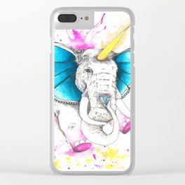 Unicorn butterphant Clear iPhone Case