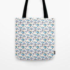 thousands of little blue trees Tote Bag