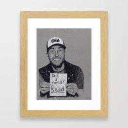 Zachary Levi: Be a Nerd! READ! Framed Art Print