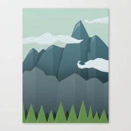 Mountains & Clouds Canvas Print