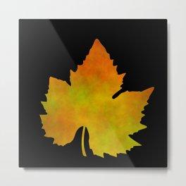 Harvest Time - Grapes Leaf 1 Metal Print