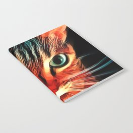 Cheshire Stripes Cat Notebook