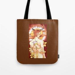 Libra - Art Nouveau Zodiac Tote Bag