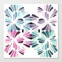 Colourful Floral Zenspire Swirl Shell Design Canvas Print