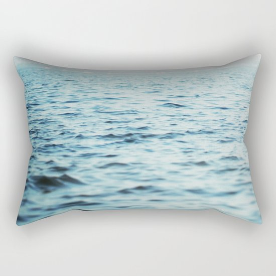 The Blue Channel Rectangular Pillow