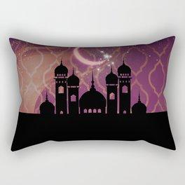 Purple & Gold Arabian Nights Half Moon Rectangular Pillow