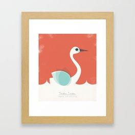 Tundra Swan Framed Art Print