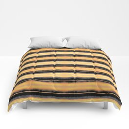 166 - Sunset Stripes design Comforters