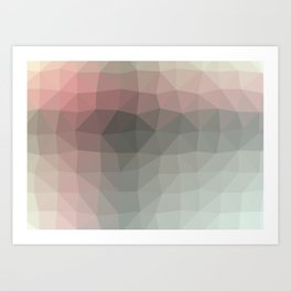 Geometric reds | Pattern modern | Future decor design Art Print
