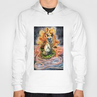 kitsune Hoodies featuring Lily Kitsune by Care Halverson