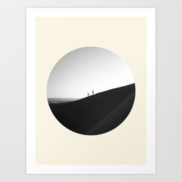 Zen Minimalist Desert Dune Art Print