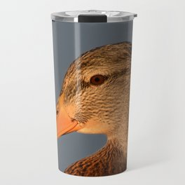 Female Duck Portrait Travel Mug