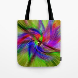 Coloured Whirligig Tote Bag