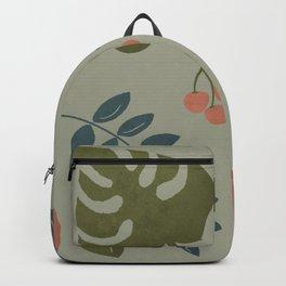 Rainforest Foliage  - Green background Backpack