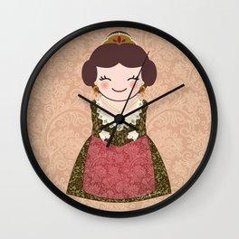 Kokeshi Fallera  Wall Clock