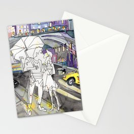 Kissing in New York City Stationery Cards