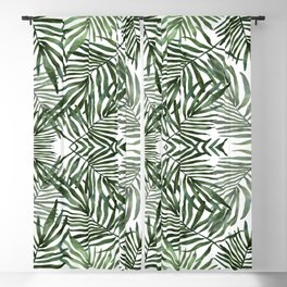 Watercolor simple leaves Blackout Curtain