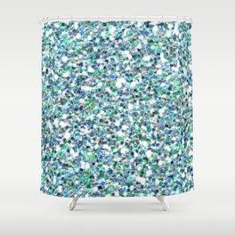 Teal Mermaid Scales Queen Shower Curtain