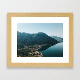 Fjords of Montenegro Framed Art Print